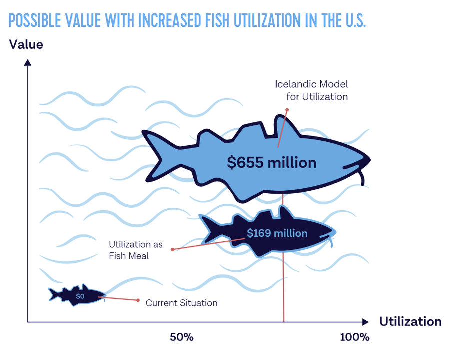 Possible value with increased fish utilization in the U.S.